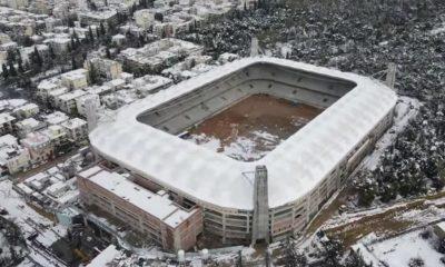opap arena χιόνια νέο γήπεδο ΑΕΚ