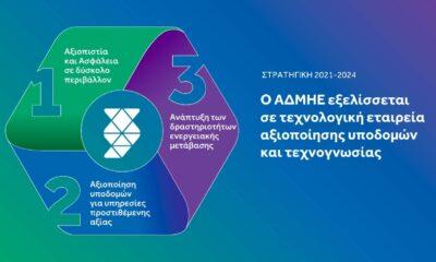 Οι τρεις πυλώνες της Στρατηγικής του ΑΔΜΗΕ. ΠΗΓΗ: Γραφείο Τύπου ΑΔΜΗΕ