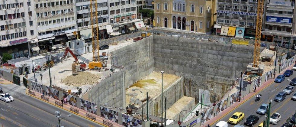 Αθήνα Μετρό Εργοτάξια