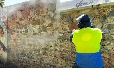 Δράσεις καθαρισμού της Ερμού από γκράφιτι-Πηγή: Kostas Bakoyiannis Youtube Channel