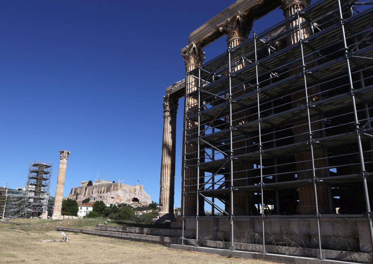 Προχωρούν τα έργα στο Ναό του Ολυμπίου Διός-Πηγή: Περιφέρεια Αττικής