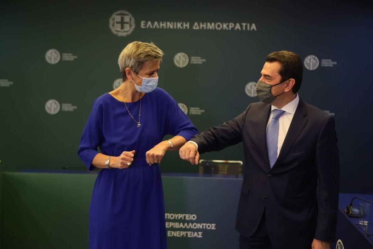 Η συνάντηση Σκρέκα-Vestager Πηγή: ΥΠΕΝ