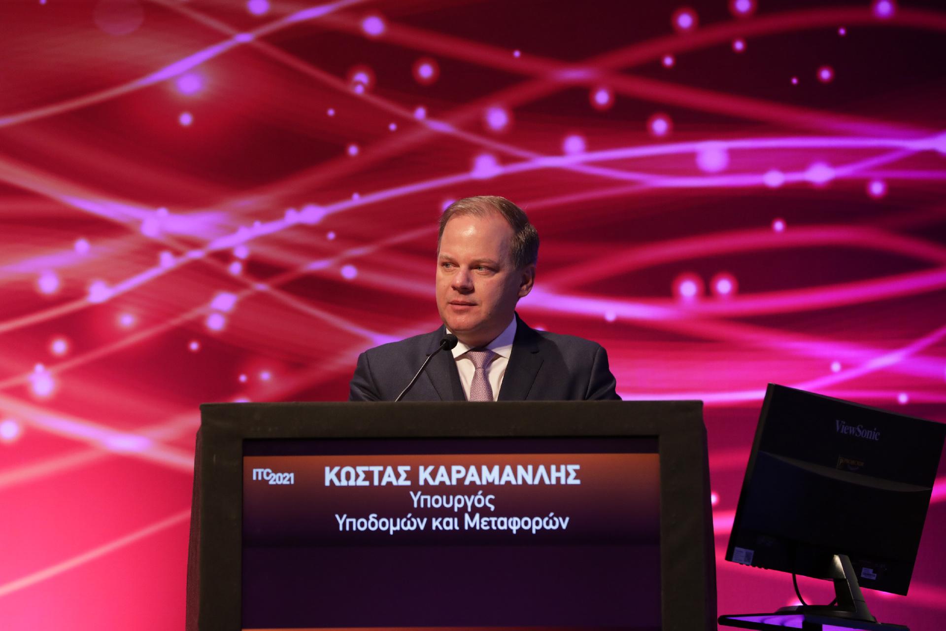 Ο Υπουργός Υποδομών και Μεταφορών, Κ. Καραμανλής, στο 4ο Συνέδριο Υποδομών και Μεταφορών ITC 2021