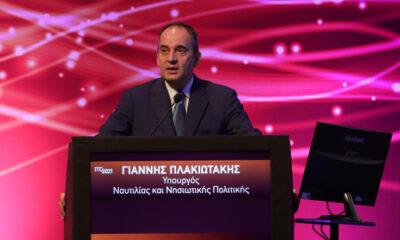 Ο Υπουργός Ναυτιλίας και Νησιωτικής Πολιτικής, Γιάννης Πλακιωτάκης, στο 4ο Συνέδριο Υποδομών και Μεταφορών ITC 2021